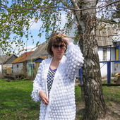 Пальто вязаное, летнее пальто