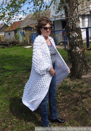 Пальто вязаное, летнее пальто ручной работы на заказ