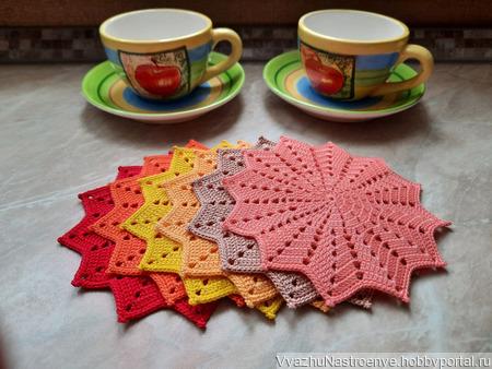 Набор салфеток для чаепития «Краски осени» ручной работы на заказ