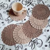 Набор салфеток для сервировки «Кофе с молоком»