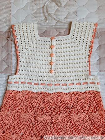 Летнее платье и шляпка «Ананасовое настроение» для девочки ручной работы на заказ