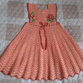 Летнее платье «Персиковое настроение» для девочки