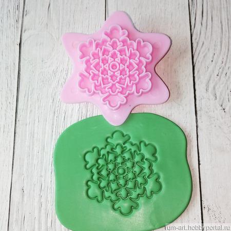 Печать для теста, марципана, полимерной глины, набор 2 шт. ручной работы на заказ