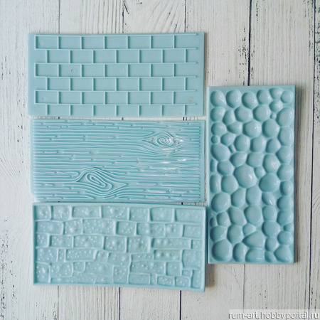 Печать для теста, марципана, полимерной глины, набор 4 шт. ручной работы на заказ