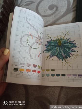 Книга со схемами вышивки DMC ручной работы на заказ