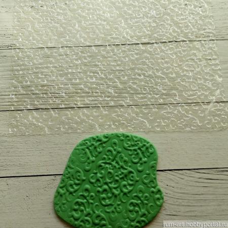 Текстурный лист 5 для теста, марципана, полимерной глины, набор 10 шт. ручной работы на заказ