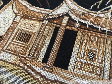 """Вышивка крестом """"Японский сад"""" ручной работы на заказ"""