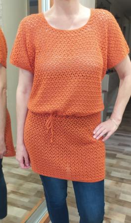 Ажурное платье - туника на все сезоны ручной работы на заказ