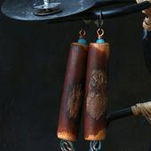 Серьги в афро-стиле «7 ft»