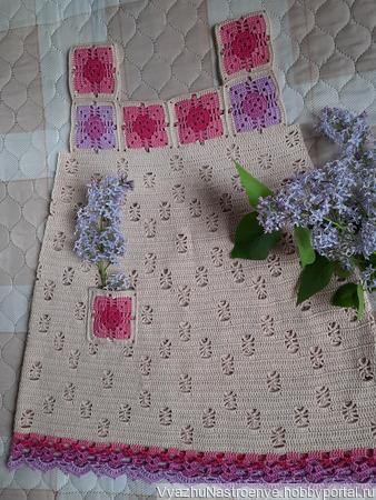 Сарафан «Сирень в цвету» для девочки ручной работы на заказ
