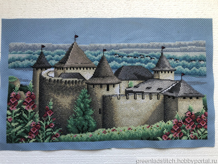 """Вышивка крестом """"Сказочный замок"""" ручной работы на заказ"""