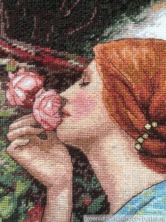 """Вышивка крестом """"Душа Розы"""" ручной работы на заказ"""