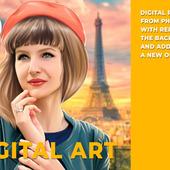 Цифровой портрет по фото (1 человек по грудь)