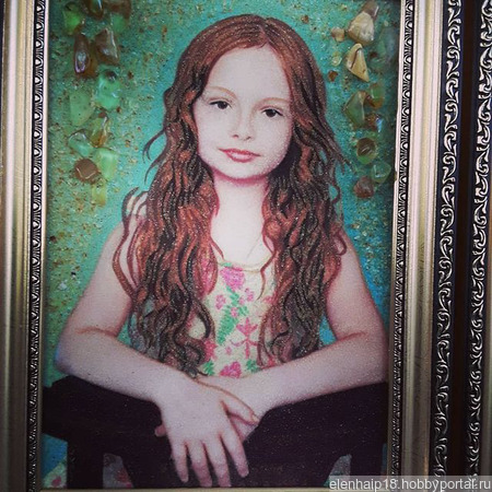 Портреты из янтаря ручной работы на заказ