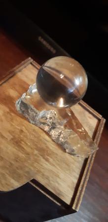 Сувенир Шар из горного хрусталя ручной работы на заказ