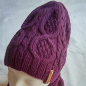 Комплект из шерсти (шапка и снуд)