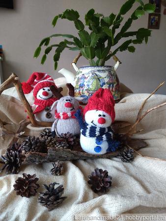 Снеговик амигуруми ручной работы на заказ
