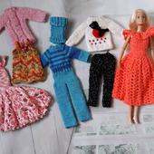 Набор одежды для кукол Барби.