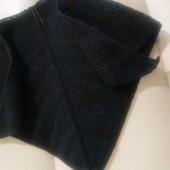 Чёрная косынка с ажурной полосой