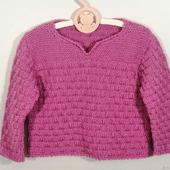 Детский вязаный джемпер (свитер) без застежки