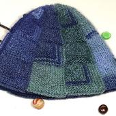 Вязаная двойная зимняя шапка-колпак шапка-тыква