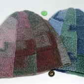 Вязаная шапка-тыква шапка-колпак шапка-луковка
