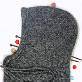 Балаклавы: Вязаная теплая шапка капюшон (балаклава) унисекс