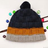 Вязаная двухслойная шапка из мериноса для мужчин и женщин унисекс