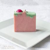 """""""Вишневый торт"""" мыло с маслом зародышей пшеницы"""
