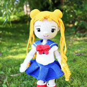 Амигуруми куклы и игрушки: кукла-школьница вязаная