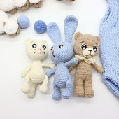 Амигуруми куклы и игрушки: Вязаные малыши.