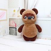 Амигуруми куклы и игрушки: Медвежонок Винни