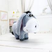 Амигуруми куклы и игрушки: Иа. Грустный ослик.