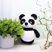 Амигуруми куклы и игрушки: медвежонок Панди