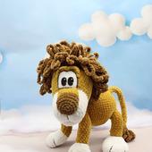 Амигуруми куклы и игрушки: Трусливый Лев