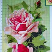 Схема для вышивки розовые розы