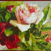 Схема для вышивки букетик роз
