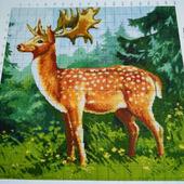 Схема для вышивки Северный олень