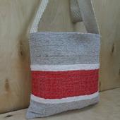 Тканая сумка Тоут 3х цветная, сделанная на ручном ткацком станке
