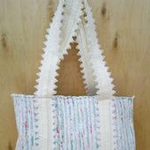 Тканая сумка шоппер,сделанная на ручном ткацком станке.
