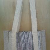 Домотканая сумка шоппер,сделанная на ручном ткацком станке