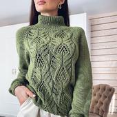 Вязаный свитер из мериносовой шерсти в Москве